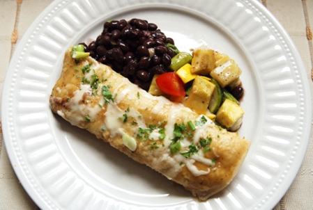 Chicken Enchilada, Black Beans & Roasted Vegetables