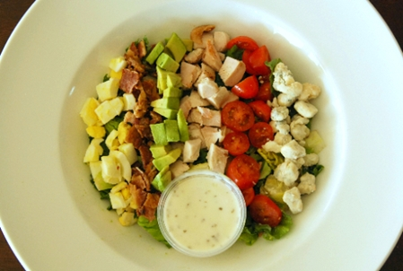 Cobb Salad with Turkey, Bacon, Bleu Cheese & Avocado