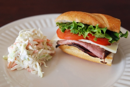 Roast Beef Sub with Coleslaw